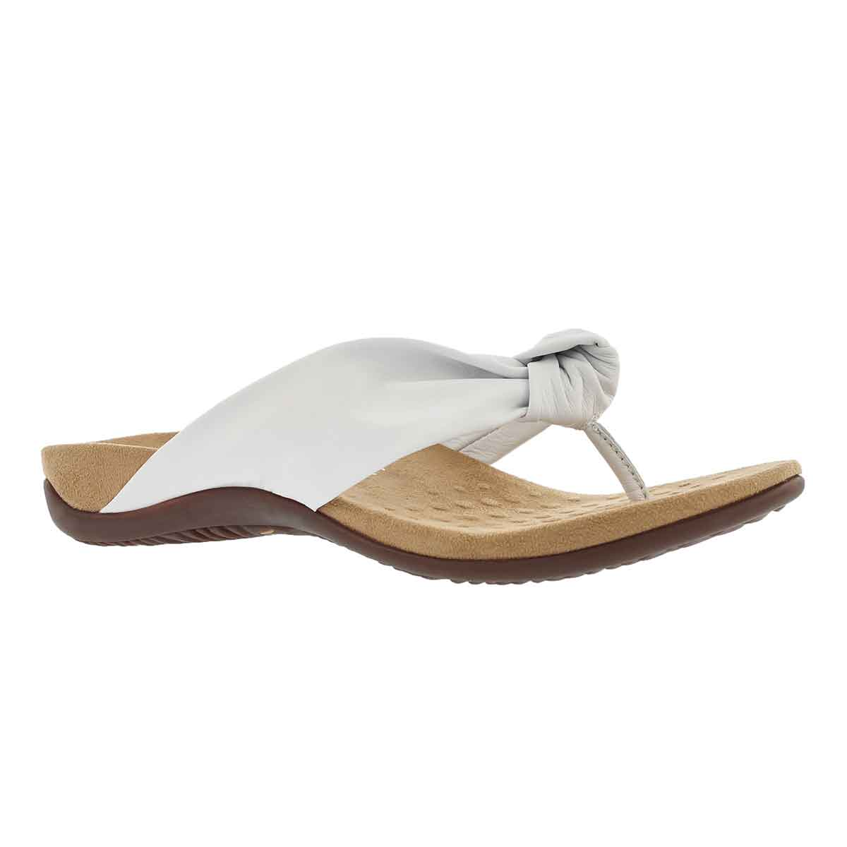 Women's PIPPA white arch support thong sandals