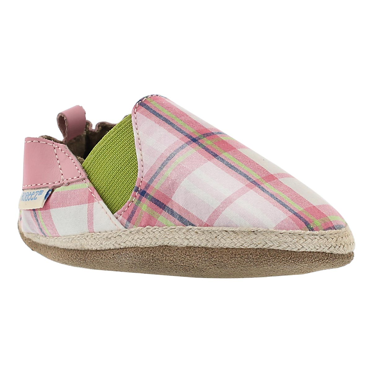 Inf Plaid Mania pink soft slipper