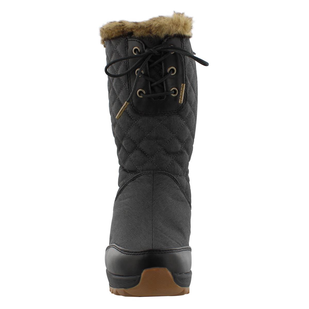 Lds PlateauZip black wtpf winter boot