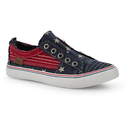 Lds Play navy star fashion sneakers