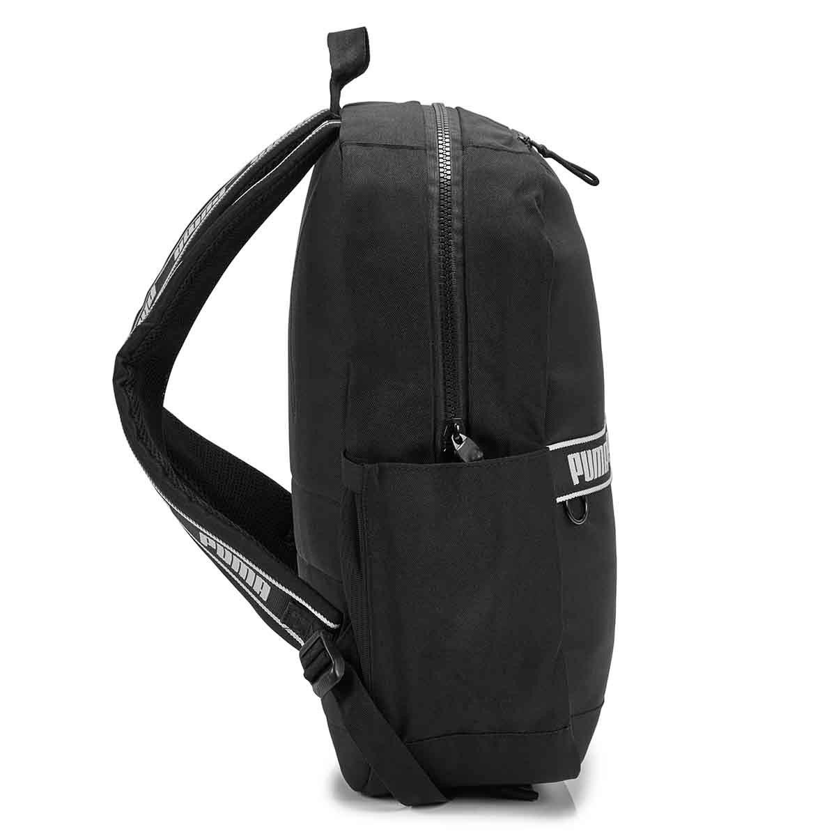 Unisex Linear black backpack