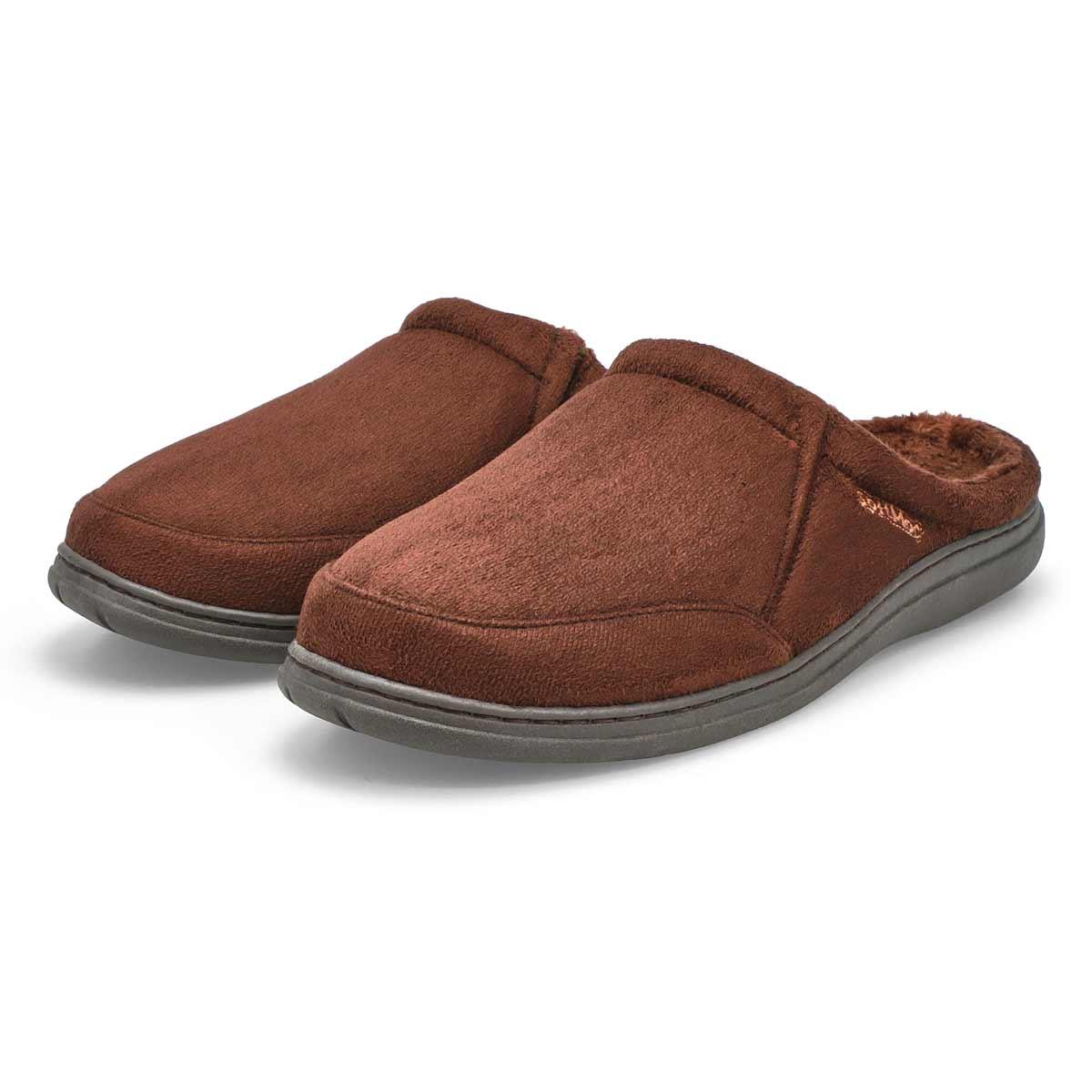 Pantoufle microsuède POLAR II, brun, hom