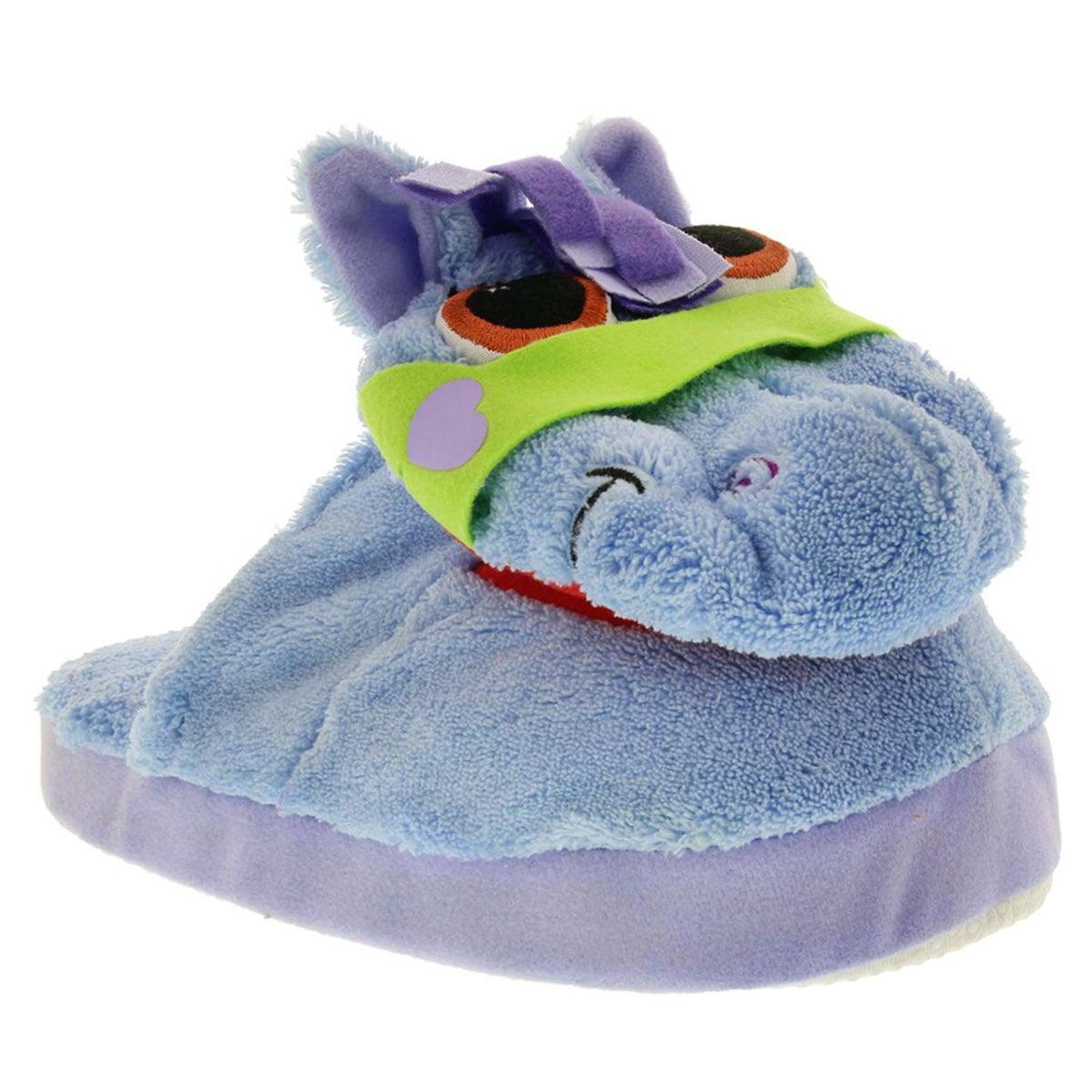 Kds Stompeez Pony blue slipper