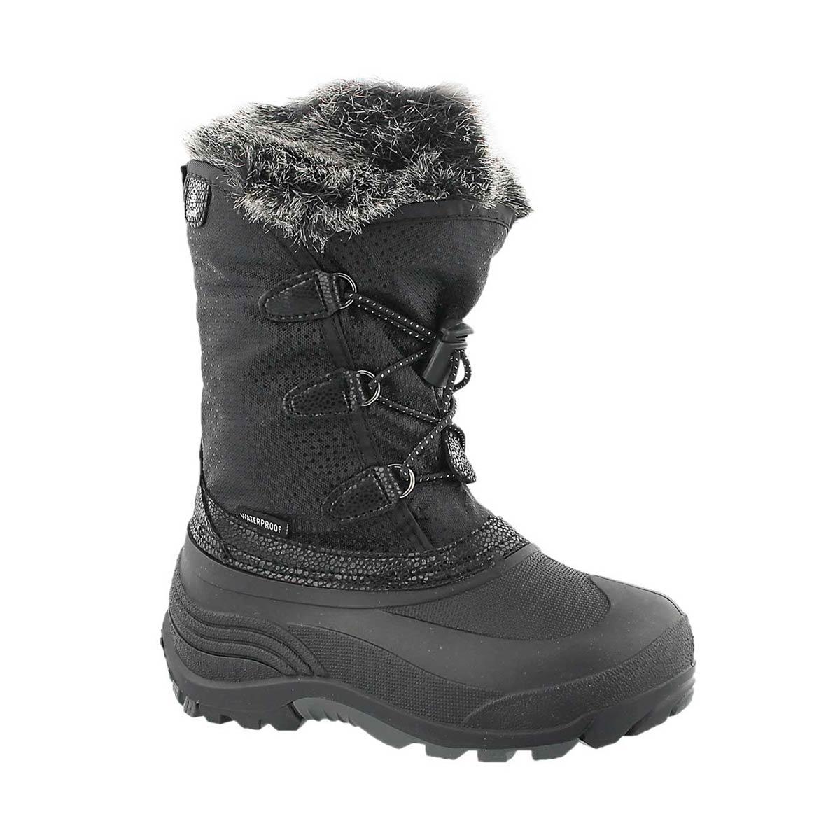 Girls' POWDERY black waterproof winter boots