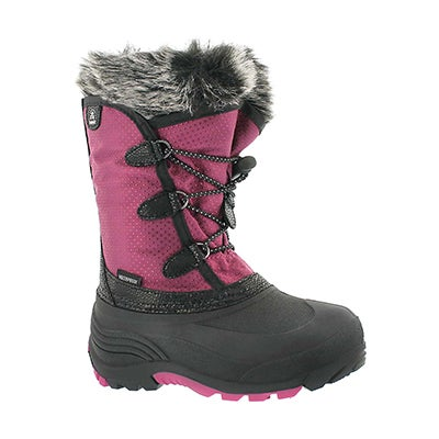 Kamik Girls' POWDERY plum waterpoof winter boots