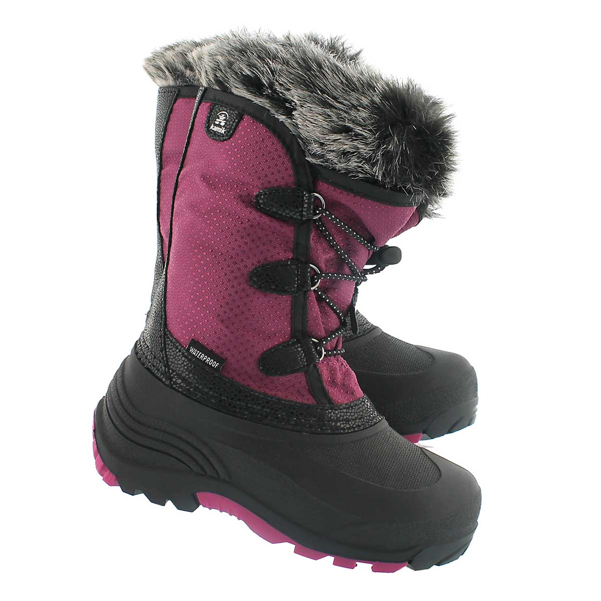 Grls Powdery plum wtpf winter boot