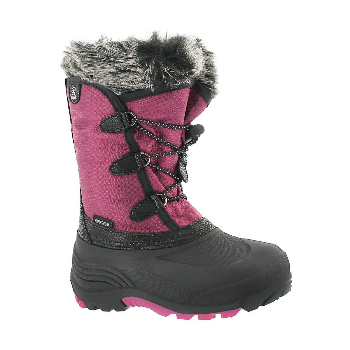 Girls' POWDERY plum waterpoof winter boots