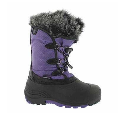 Grls Powdery purple wtpf winter boot