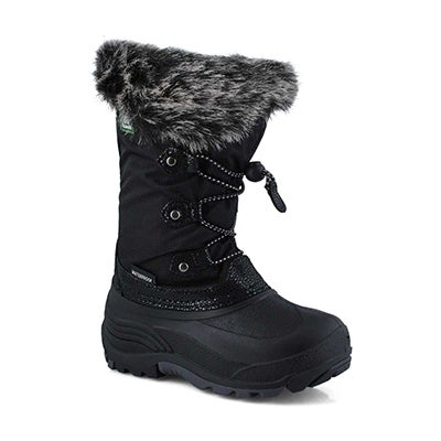 Grls Powdery2 blk wtpf winter boot