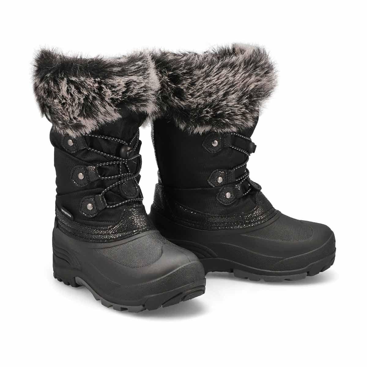 Grls Powdery2 blk wtpf winter boot