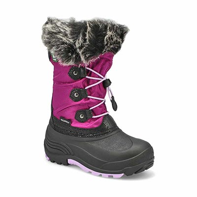 Grls Powdery2 grape wtpf winter boot