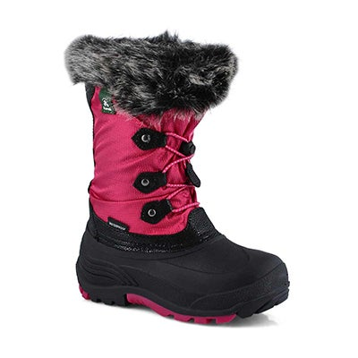 Grls Powdery2 rose wtpf winter boot