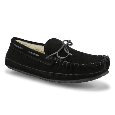 SoftMoc Men's PRESTON black memory foam moccasins
