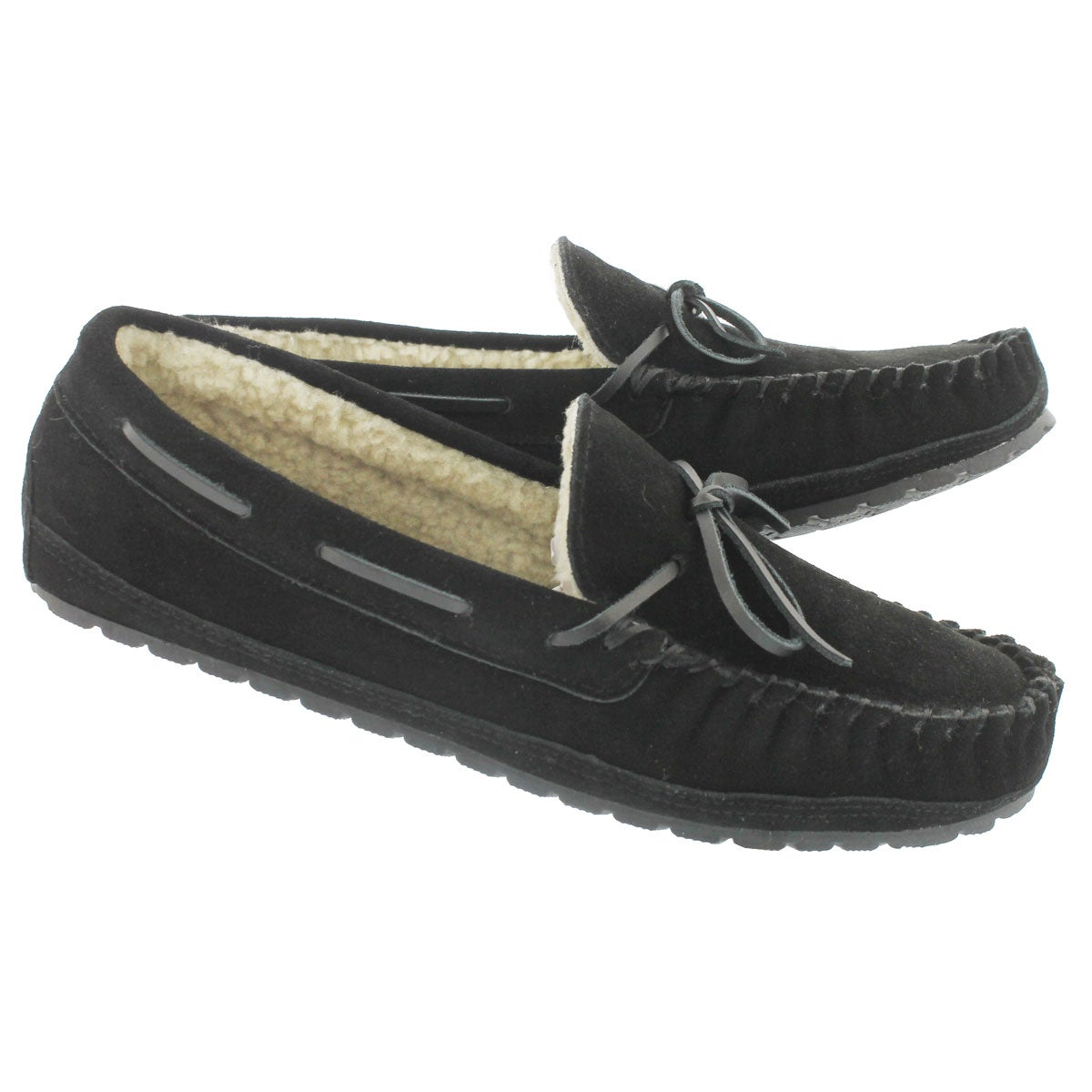 Mns Preston black memory foam moccasin