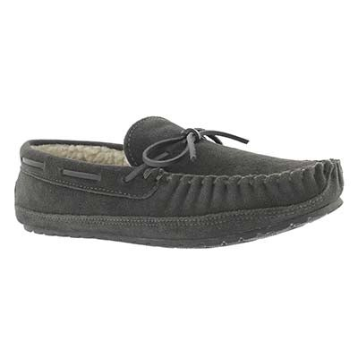 SoftMoc Men's PRESTON charcoal memory foam moccasins