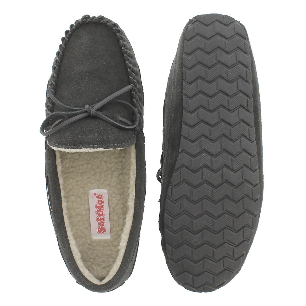 Mns Preston charcoal mem. foam moccasin