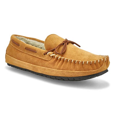 SoftMoc Men's PRESTON tan memory foam moccasins