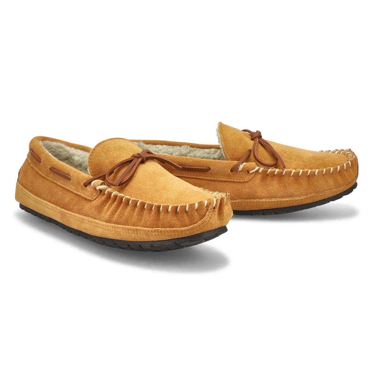 Mns Preston tan memory foam moccasin