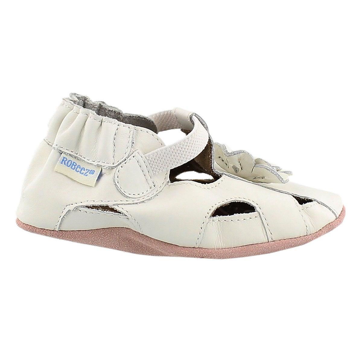 Infs-g Pretty Pansy white soft slipper