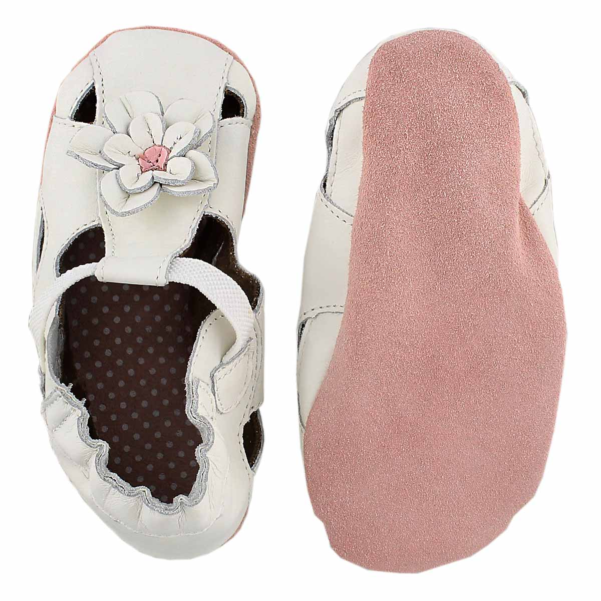 Infs-g Pretty Pansy white soft slipper