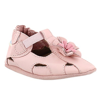 Robeez Infants' PRETTY PANSY pink soft slippers