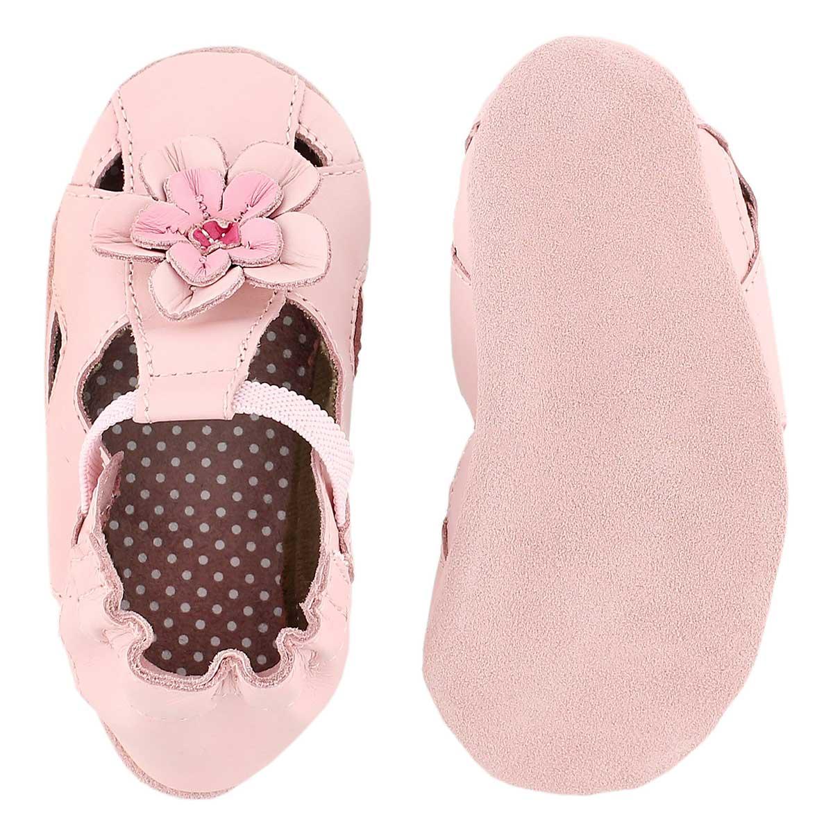 Inf Pretty Pansy pink soft slipper