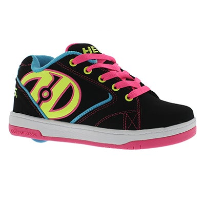 Heelys Girls' PROPEL black/multi skate sneakers