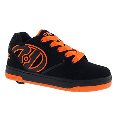 Heelys Boys' PROPEL black/orange skate sneakers