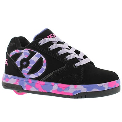 Heelys Girls' PROPEL 2.0 black/lilac/pink skate sneakers