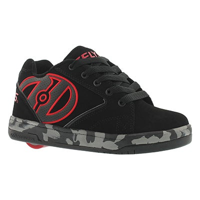Heelys Boys' PROPEL 2.0 black/red skate sneakers