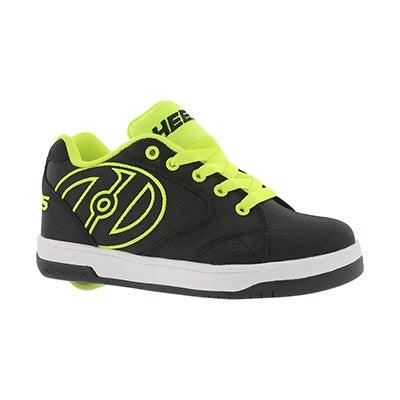 Heelys Boys' PROPEL 2.0 black/yellow skate sneakers
