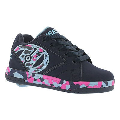 Heelys Girls' PROPEL 2.0 navy/pink/blue skate sneakers