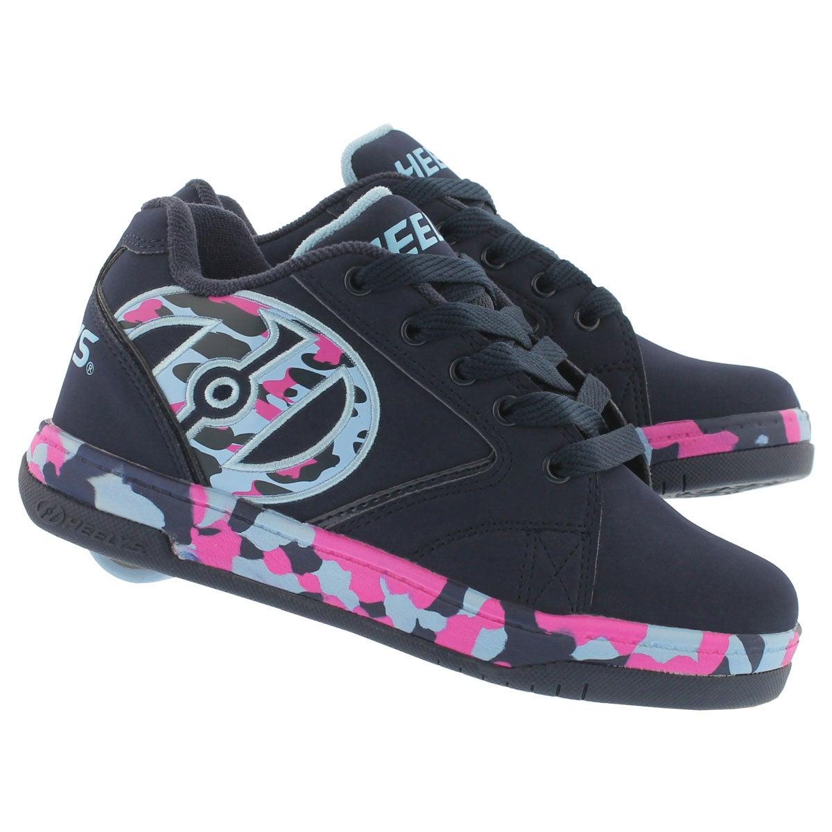 Grls Propel 2.0 nvy/pk/blu skate sneaker