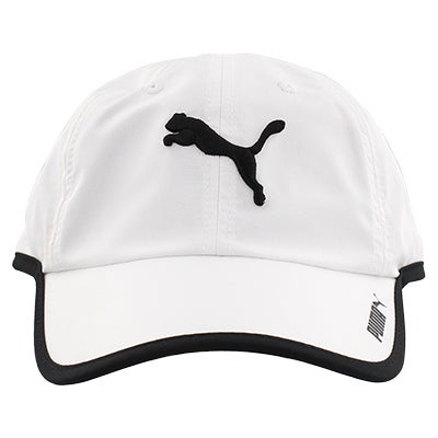 Unisex Greta Adjustable wht/blk cap