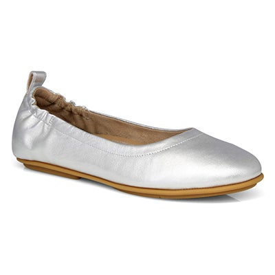Lds Allegro silver slip on ballerina