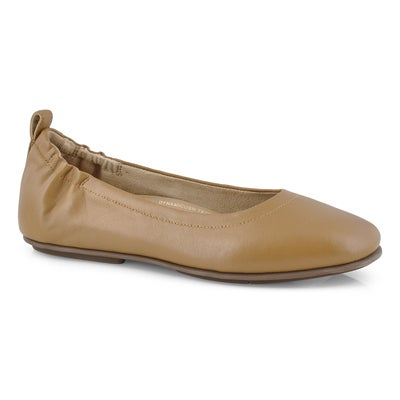 Lds Allegro hazelnut slip on ballerina