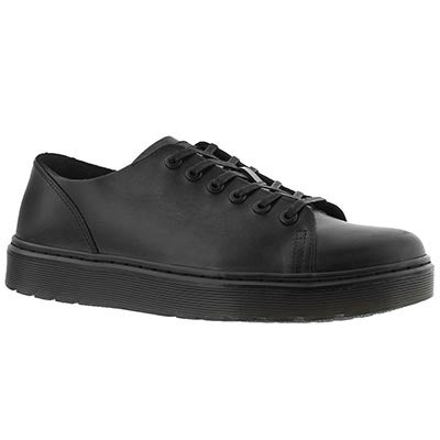 Mns Dante black 6 eye lace up sneaker