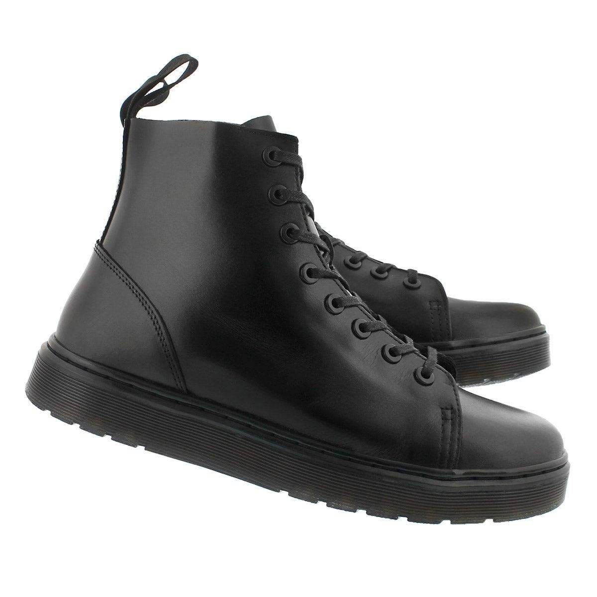Mns Talib black 8 eye combat boot