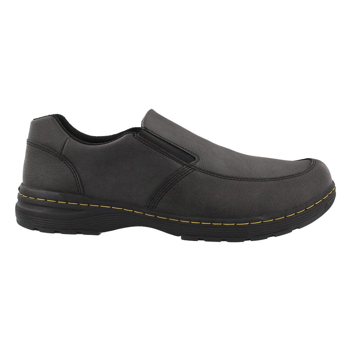 Mns Brennan black slip on casual shoe