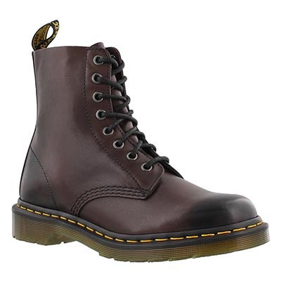 Dr Martens Women's PASCAL 8-Eye brown soft leather boots