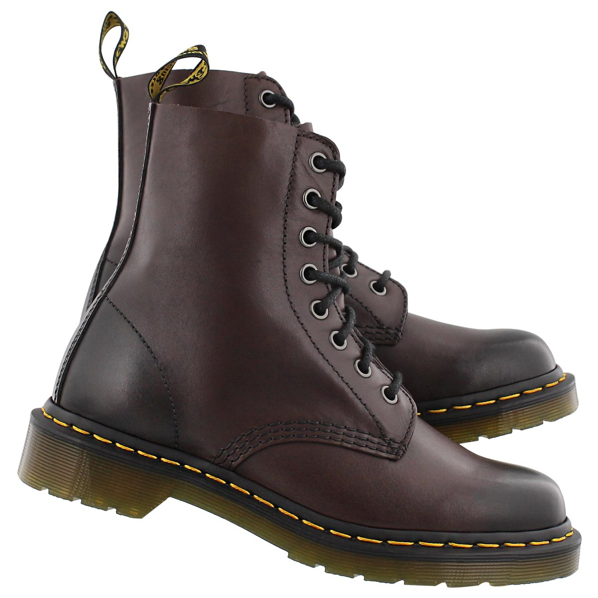 Lds Pascal 8-Eye brown soft leather boot