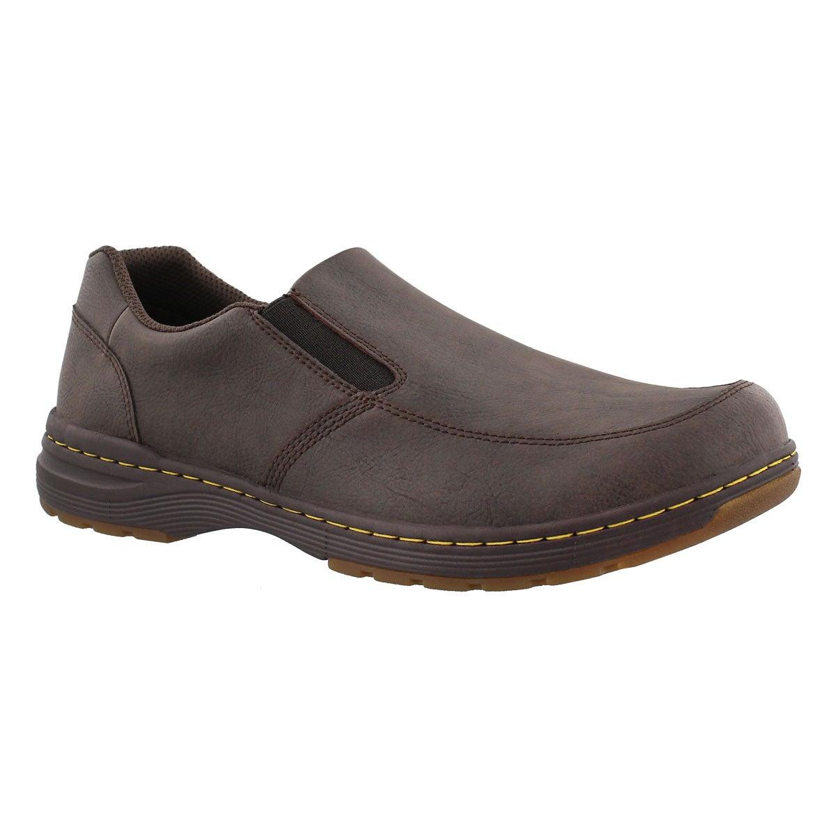 Men's BRENNAN brown slip on casual shoes
