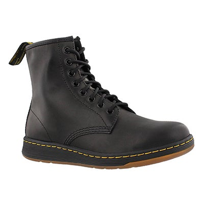 Lds Newton black 8 eye combat boot
