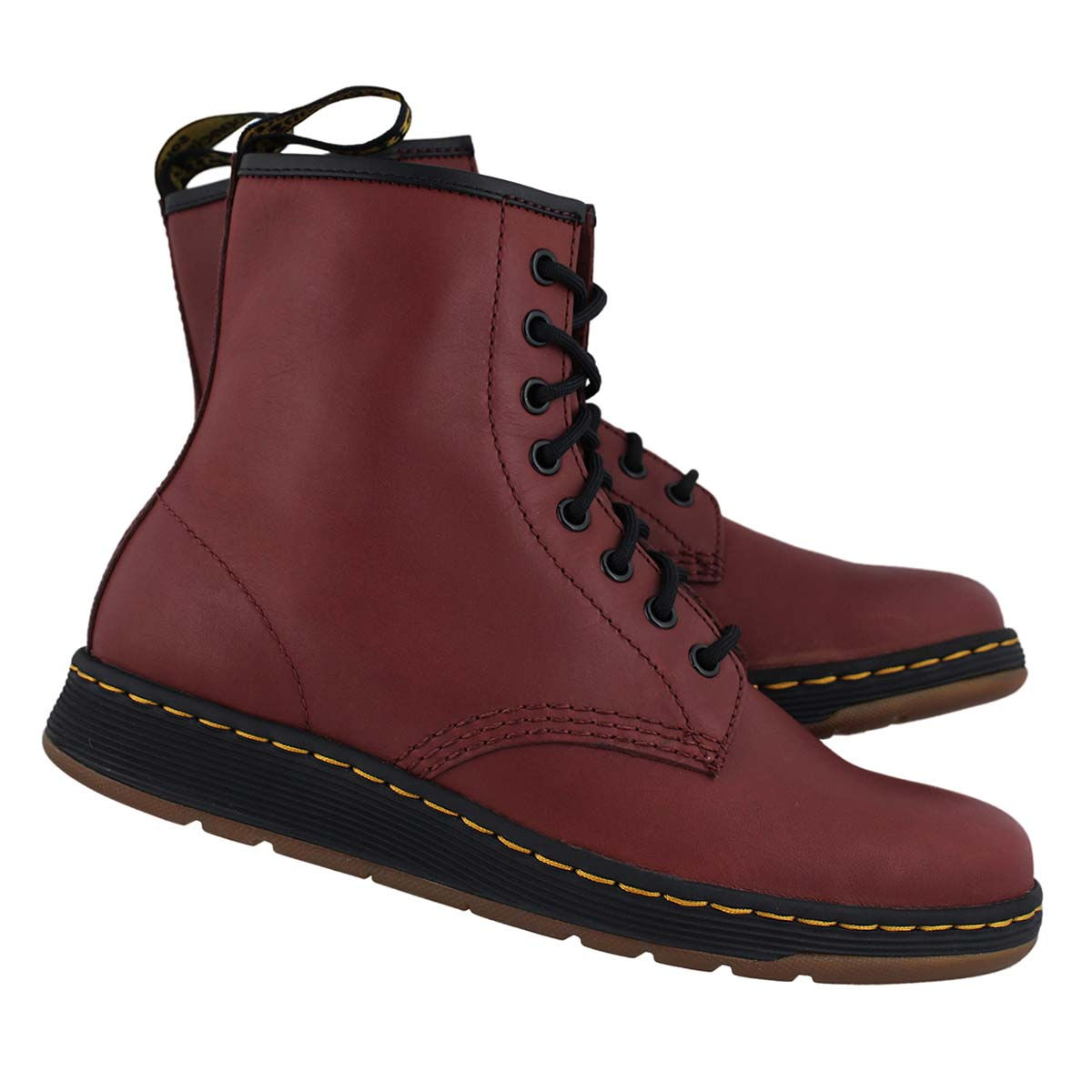 Lds Lite Newton cherry 8 eye combat boot