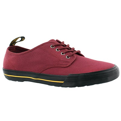 Mns Pressler cherry red lace up sneaker
