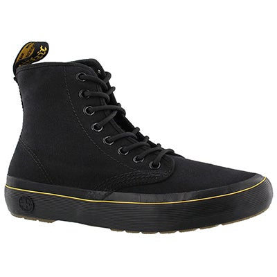 Lds Monet black lace up combat boot