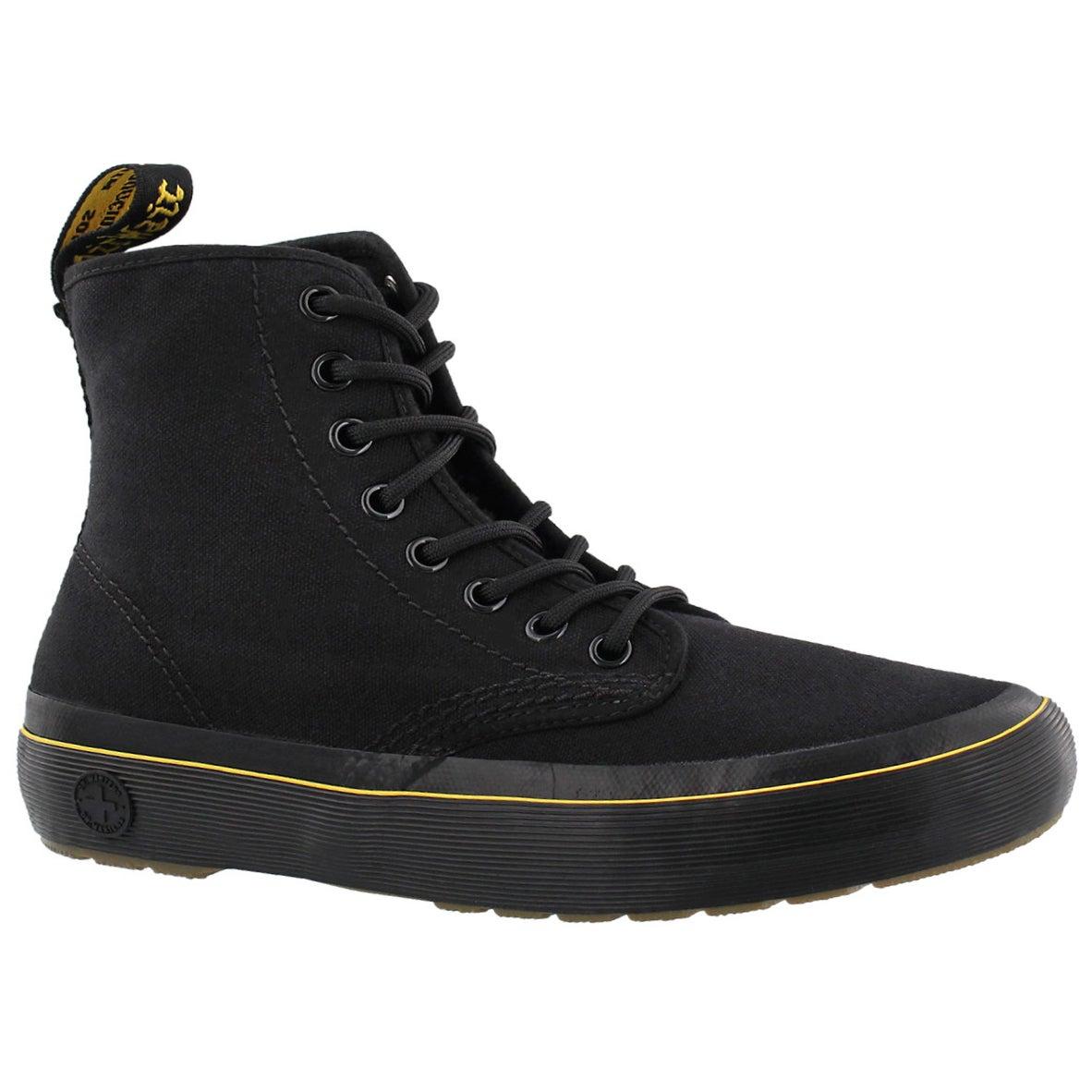 Women's MONET black lace up combat boots