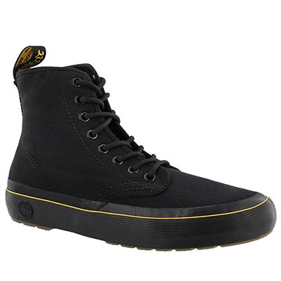 Lds Monet black lace up combat boot