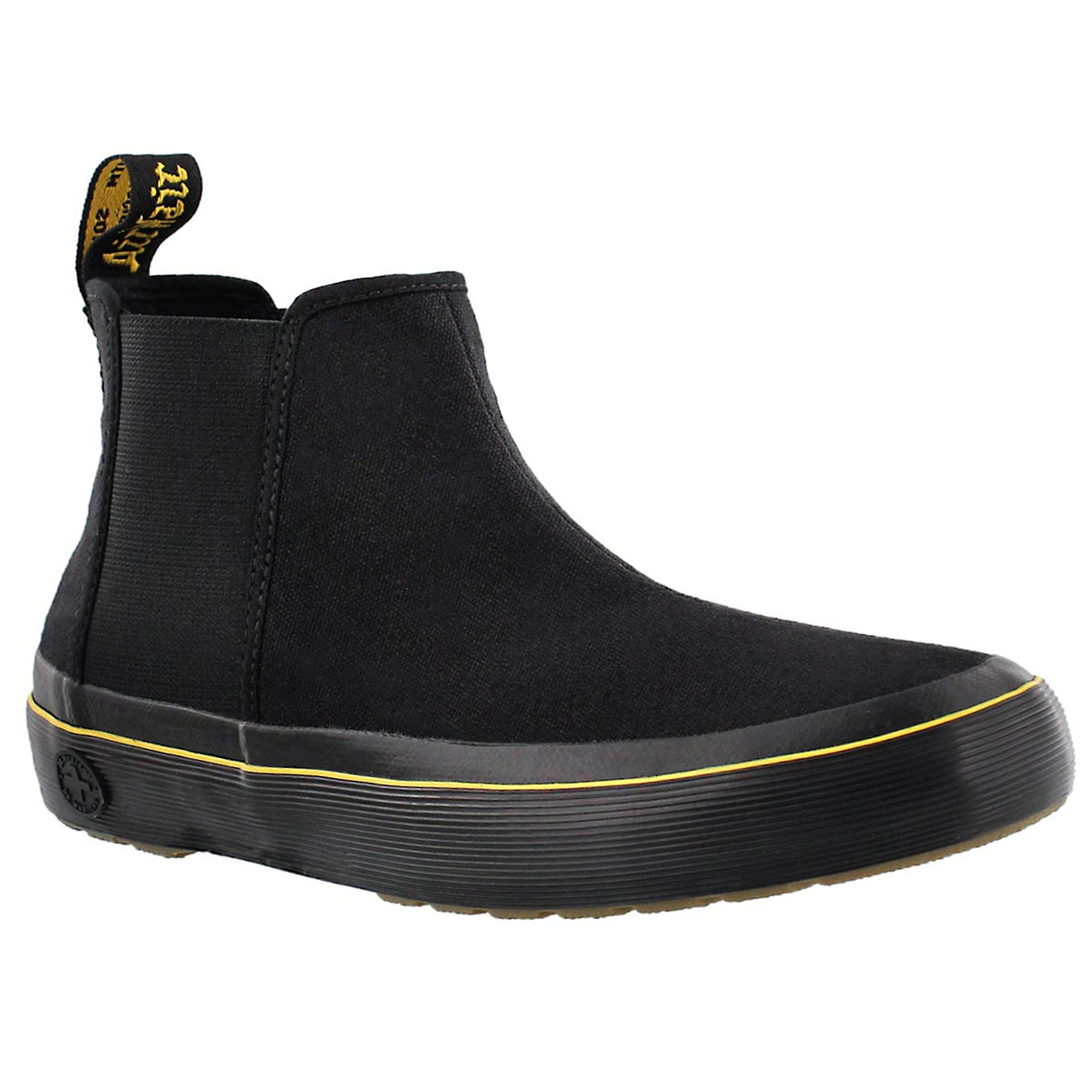 Women's PHOEBE black pull on chelsea boots