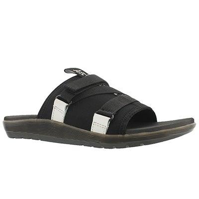 Lds Nerida Slide blk/wht casual sandal